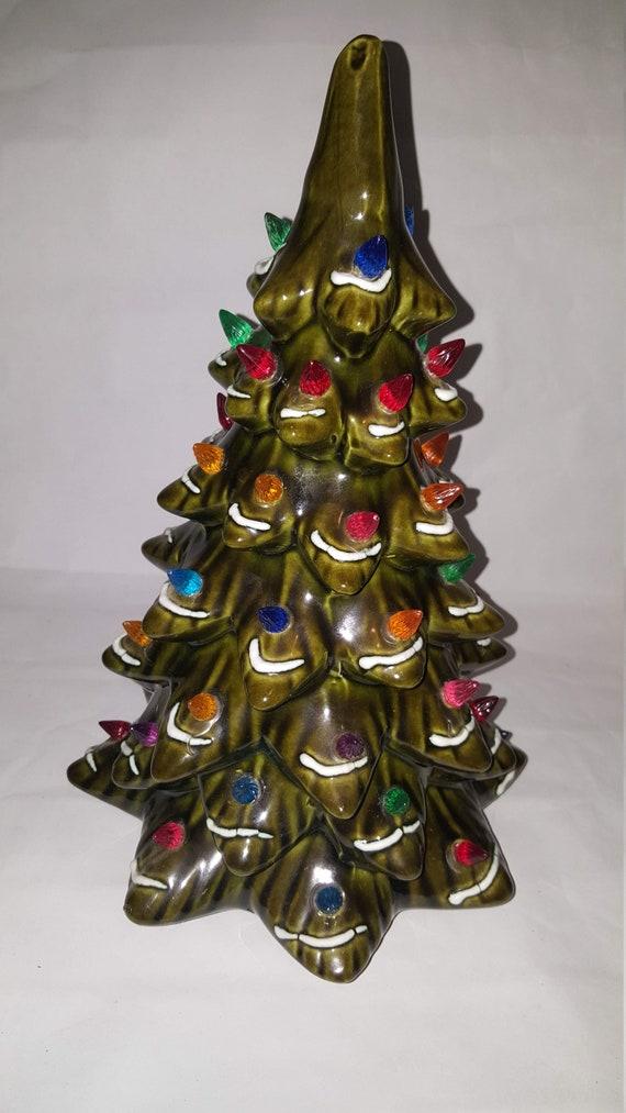 Ceramic Christmas Tree With Snow.13 Ceramic Christmas Tree Snow Lights