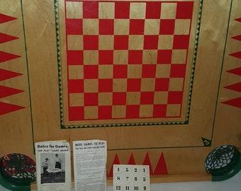 Vintage Carom & Crokinole Board