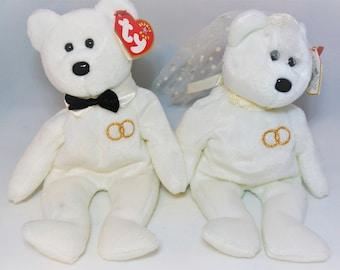 73e1e15b75d Mr. and Mrs Bear Vintage Ty Wedding