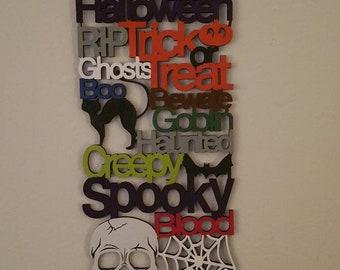 Halloween wall sign