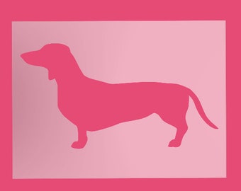 Dachshund Stencil Doxie Dog Breed Face Reusable Sheet S664