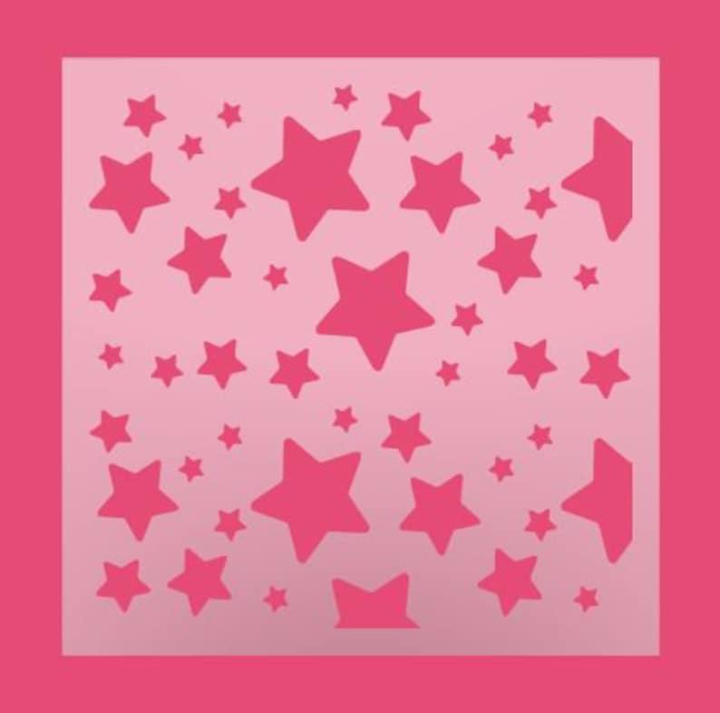 Multipurpose Stencil Stars 110 DIY Stencil Stars Background Stencil Scattered Stars Cookie Stencil Scattered Stars Pattern