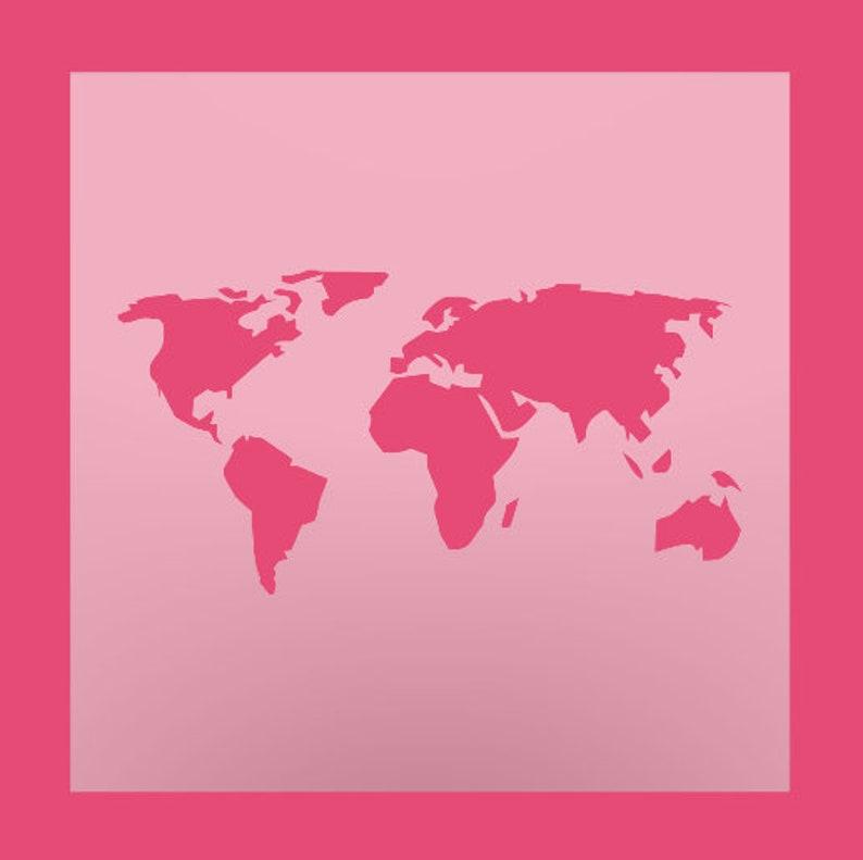 World Map Stencil - DIY Stencil - Multipurpose Stencil - Reusable Stencil