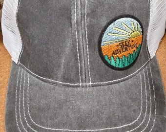 Hat, Adventure, Hiking, Outdoors, Patch
