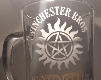 Wnchester Brothers, Supernatural inspired etched glass