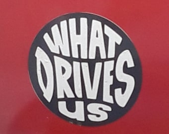 Foo Fighters: What Drives Us, self adhesive sticker - Vinyl Decal, bumper sticker, decoration