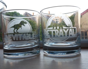 Firefly, serenity  inspired etched glass whisky tumblers, hi-ball or conical, set of 2