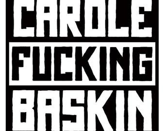 Tiger King Carole Baskin Vinyl Decal