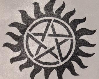 2 x Supernatural self adhesive sticker - Vinyl Decal, bumper sticker, decoration