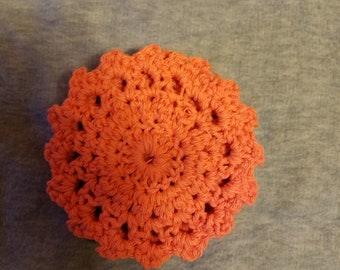 Set of 4 Hand Crocheted Coasters
