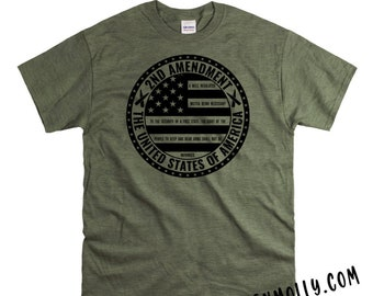 Size Matters 2A T-Shirt Defend 2nd Amendment Pro Guns Weapons Mens Tee Shirt