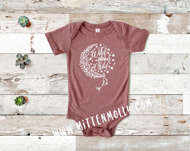 Baby Gift Bella Canvas Moon Child Boho Baby Wild Moon Child Infant Bodysuit Baby Clothing Baby Girl Wild Child Cute Baby Clothing
