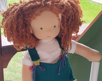 Lily Prodigy Doll - Handmade Natural Waldorf Inspired Doll Cloth Doll ECO Friendly Doll, Gift for Daughter