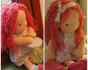 Isabel Prodigy Doll - Handmade Natural Waldorf Inspired Doll Cloth Doll ECO Friendly Doll, Gift for mother