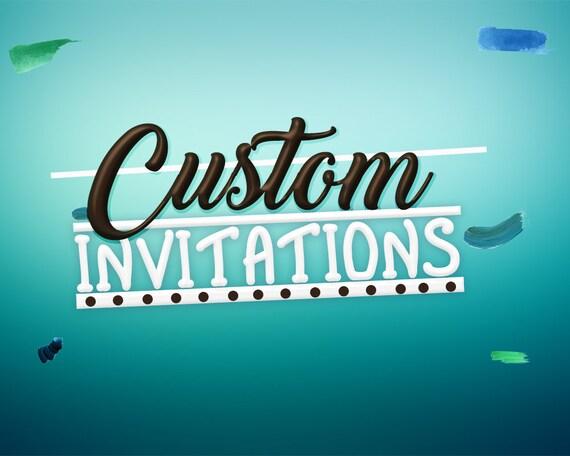Custom Birthday Invitation Order Design