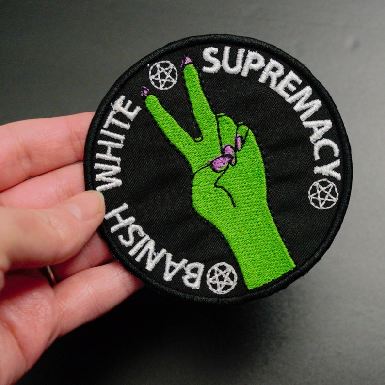 Banish White Supremacy Witch Patch