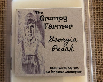 Georgia Peach soy wax tart