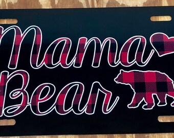 Mimi Bear Glitter Like License Plate Car Tag Personalized Custom Mimi Car Tag