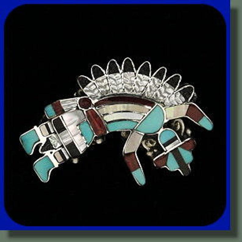Kachina Rainbow Dancer Pendant or Pin