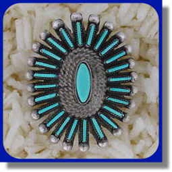 Women's Needlepoint Turquoise Ring