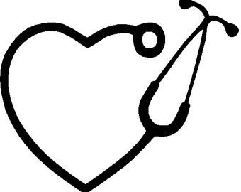Heart Stethoscope  Monogram SVG