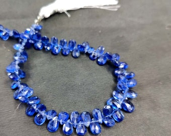 8 Inches Strand,Finest Quality,Natural Kyanite Smooth Pear Shape Briolettes,Size 6-12mm