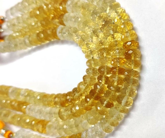 Natural Crystal Faceted Rondelles 10 Inches Strand Size 6mm