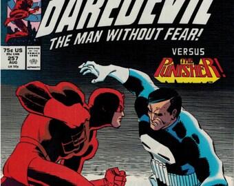 Daredevil #257 August 1988 Marvel Comics Grade VF