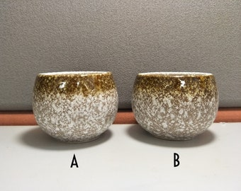 Ceramic Clay Senbei Tea Cup