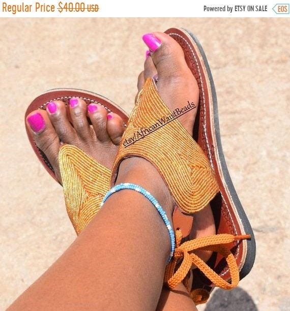 On Sandal African SandalsLeather Bead ClothingShoe SandalBohemian WomanAfrica Sale Greek QdrthCs