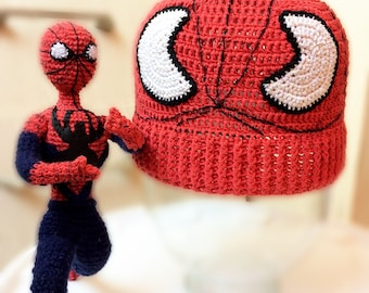 Toy Spider man + hat for the boy hand made