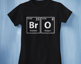 fecfeab75 Bro T-Shirt, Bros Before Shirt, T-Shirts for Brothers, Brothers Gift,  Periodic Table of Elements Shirt, Science Nerd Shirt, Science Gift