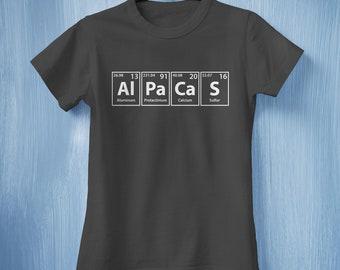 Alpacas T-shirt, Cute Alpacas Shirt, Knitting Gift Ideas, Alpacas Owner Shirt, Science Teacher T-shirt, Periodic Table Elements T-shirt