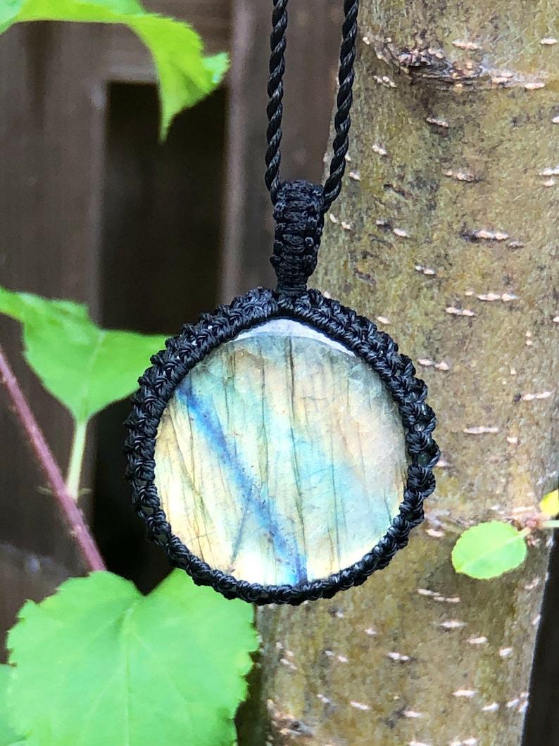 Labradorite necklace for women,labradorite pendant necklace men,labradorite jewelry handmade,macrame necklace for men,macrame stone necklace