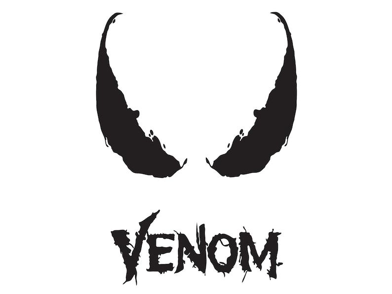 Venom Clip art Venom Silhouette Venom Clip Art Venom Vector Venom SVG Cut File Venom Cricut svg, VENOM black