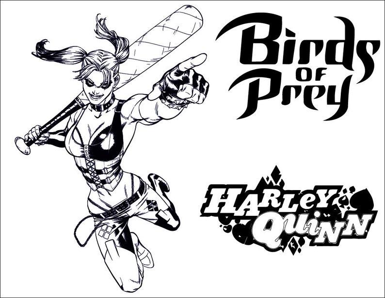 Harley quinn harley quinn svg quin cosplay birds of | Etsy