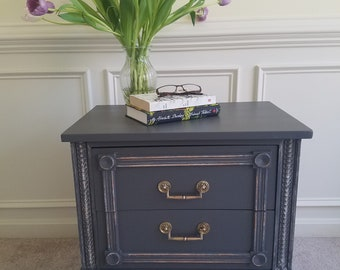SOLD-  PRODUCT EXAMPLE -- Pair of Vintage American of Martinsville Nightstands