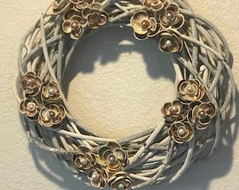 Seashell Birch wood wreath