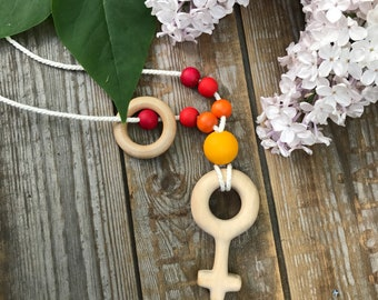Breastfeeding / babywearing necklace handmade by wriliya