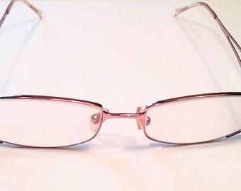 cdff2684f6c Vintage Valentino Eyeglass Frame Italy Womens - Gold Brown Metal -  Rhinestone