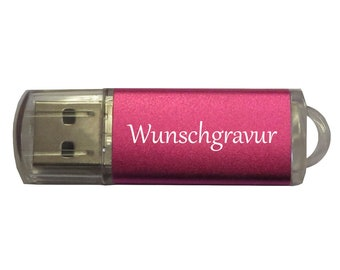 USB stick 16GB with desired engraving