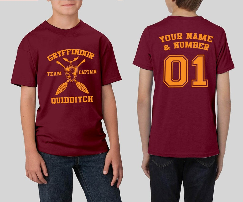 b215b3ea0 Custom Gryffindor Quidditch Youth Shirt Harry Potter Shirt | Etsy