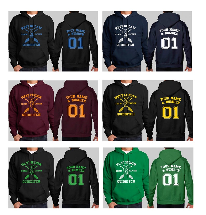 6b471b5e Custom Quidditch Hoodie - Gryffindor, Slytherin, Ravenclaw, Hufflepuff  Harry Potter Hoodie //Unisex