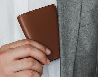 SPECTER Bifold Mens Leather Wallet | Full Grain Vegetable Tanned / Cross-Grain Leather | Slim Leather Wallet
