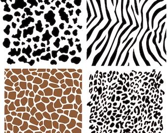 6bb87cc41bdf Animal Print Background Stencils 4 pack- Cookie Stencils