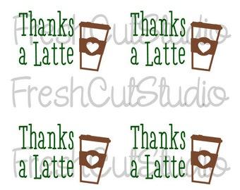 Thanks A Latte Etsy