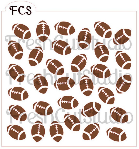 Football background stencil cookie stencils for Football cookie cutter template
