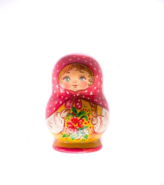 10x Wooden Russian Nesting Dolls Christmas Santa Claus Matryoshka Kids Gift