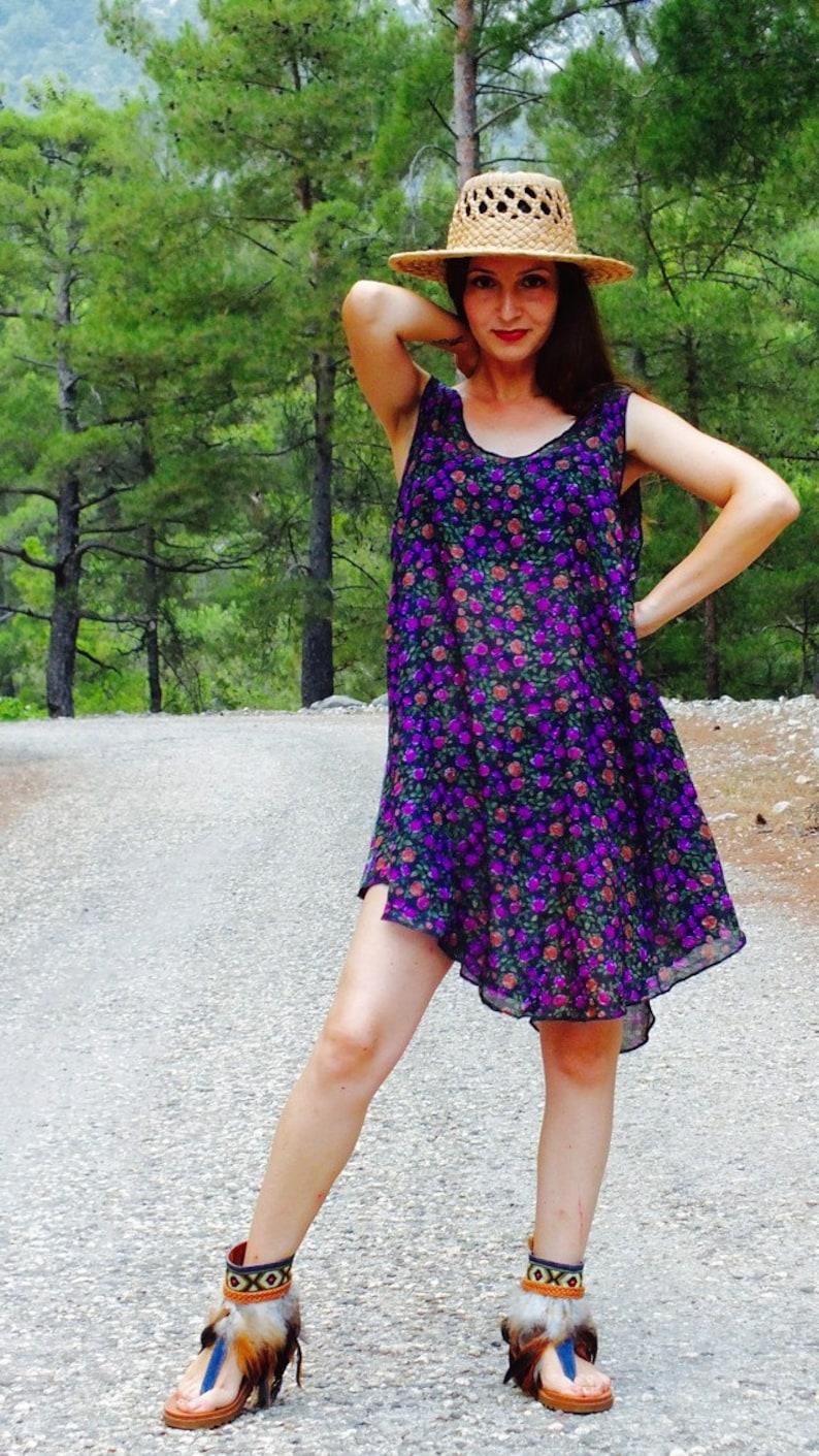 Floral dress fabric dress floral top natural tunic floral tunic gypsy clothes natural top hippie clothes floral clothing Cute dress
