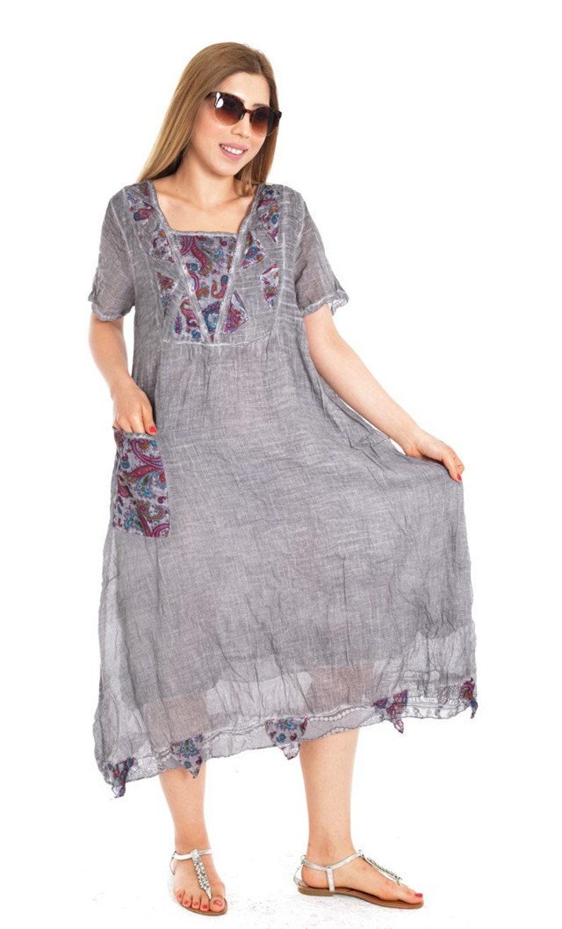 5773a09b210bf Grey bohemian dress, Boho clothing women